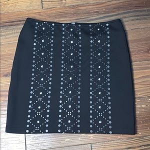 MINKPINK black embellished mini skirt M